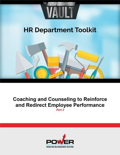 Coaching and Counseling to Reinforce and Redirect Employee Performance - Part 2