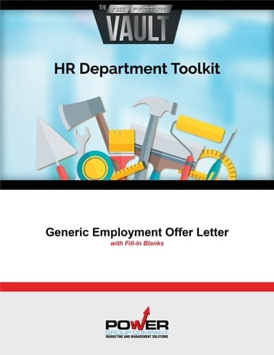Generic Employment Offer Letter with Fill-In Blanks